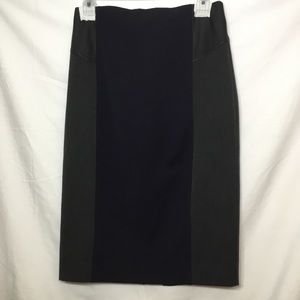 EXPRESS THREE TONE SKIRT WITH LEATHER WAIST size 2